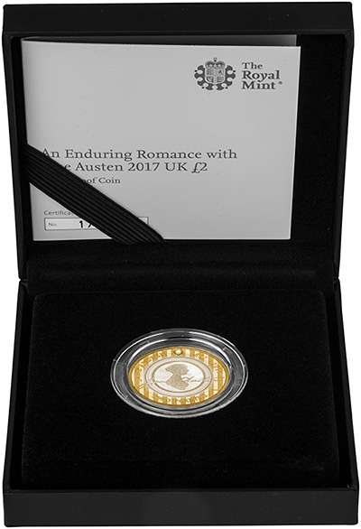 The 2017 200th Anniversary of the Death of Jane Austen £2 Silver Proof Coin