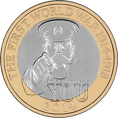 2014 100th Anniversary of the First World War, The Outbreak £2 Coin
