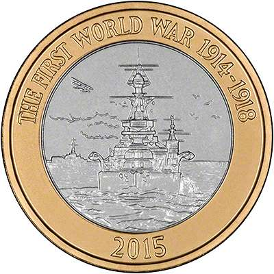 2015 WWI Royal Navy £2 Coin