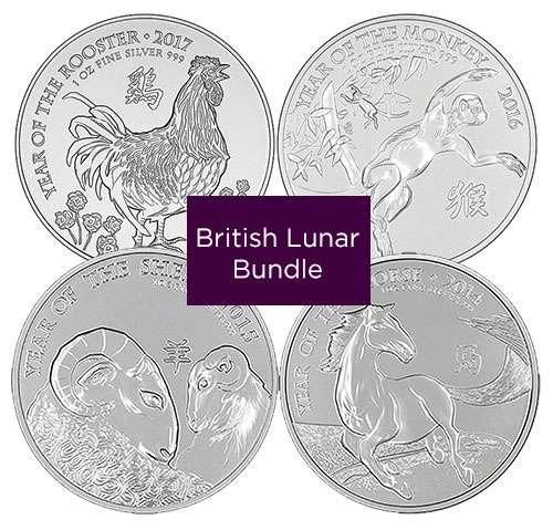 Buy British Silver Lunar Coin Bundle