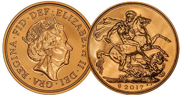 2017 Sovereign - Uncirculated Bullion Investment Gold Coins