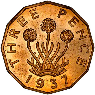 1937 Brass Threepence