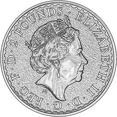 Obverse of 2017 British Year of the Rooster Lunar Coin