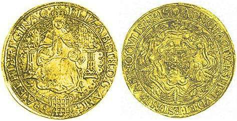 Hammered Gold Sovereign Obverse and Reverse Image