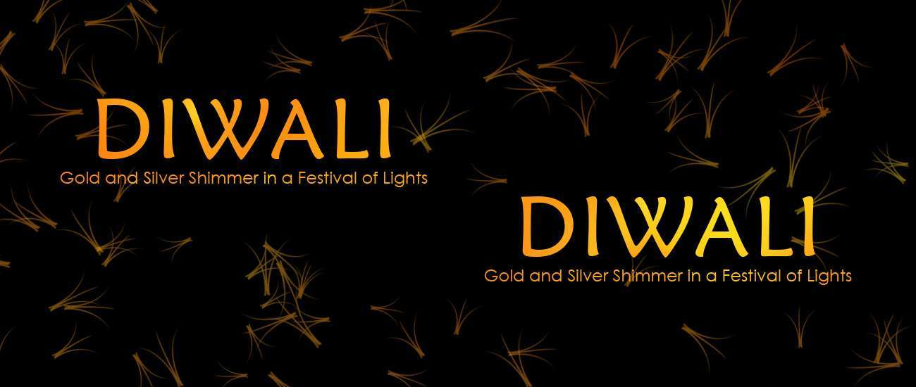 Diwali - Gold and Silver Shimmer in a Festival of Lights 197