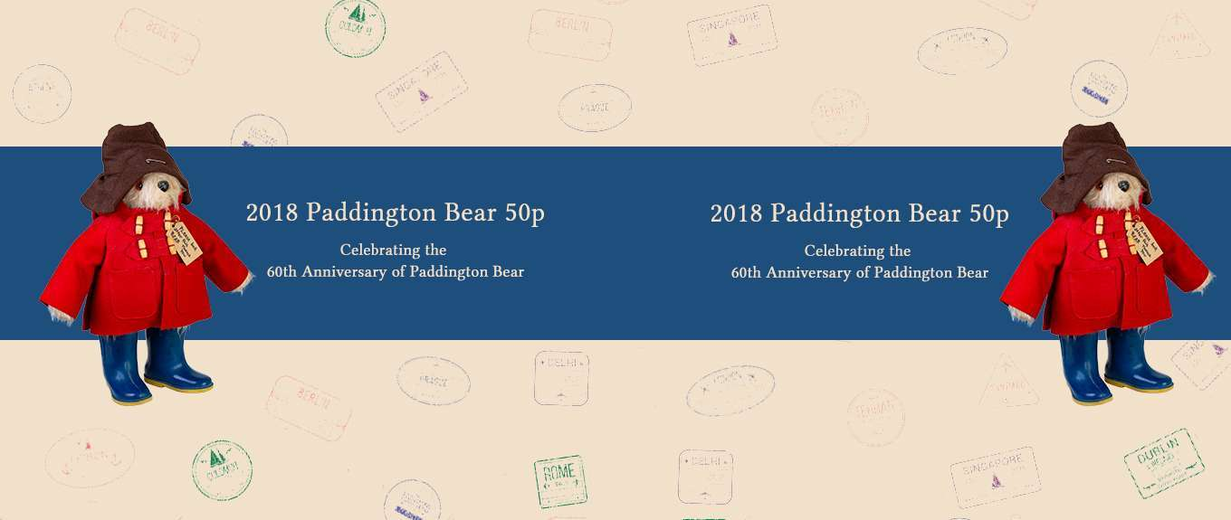 New! 2018 Paddington Bear 50p Coins 148