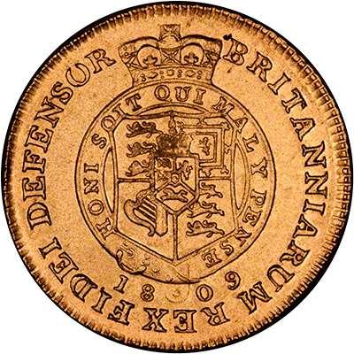 1809 George III Half Guinea with Honi Soit Qui Mal Y Pense