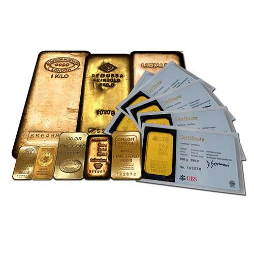 Gold Bar Selection