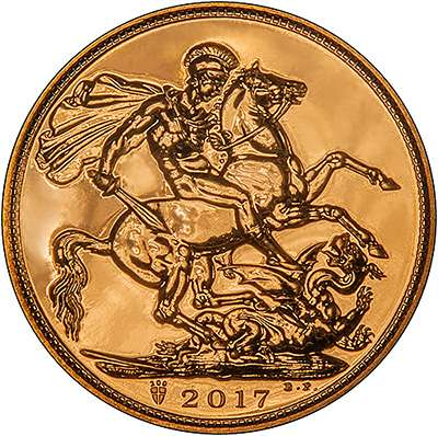 2017 Sovereign - Uncirculated finish. Reverse features a privy mark celebrating 200 years of the Modern Sovereign