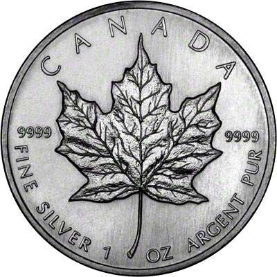 Canadian Maple 1988 Silver Coin