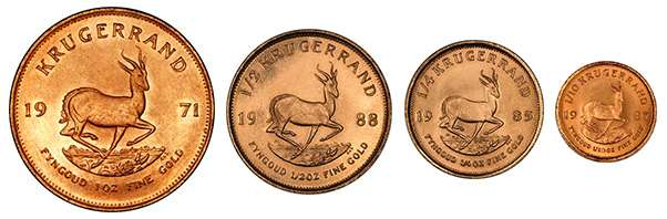 Krugerrands are issued in fractional sizes