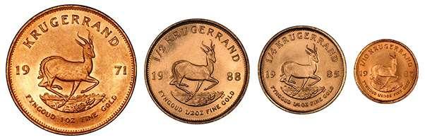 kruger coin sizes