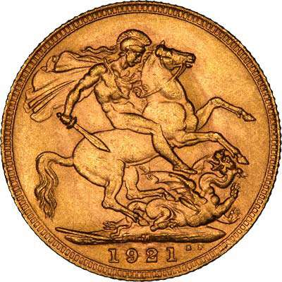 1921 George V Melbourne Mint Sovereign