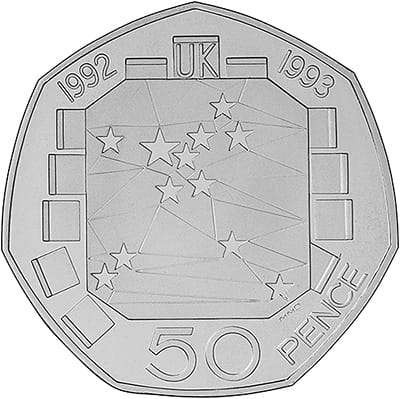 1992-1993 European Community Fifty Pence
