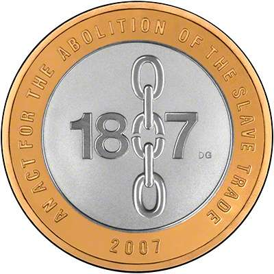 2007 Bicentenary of the Abolition of the Slave Trade Silver Proof £2 Coin