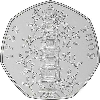 2009 250th Anniversary of the Foundation of the Royal Botanic Gardens at Kew Fifty Pence