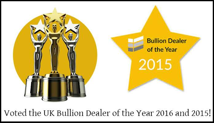 Chard have been voted the UK Bullion Dealer of the Year 2016 and 2015!
