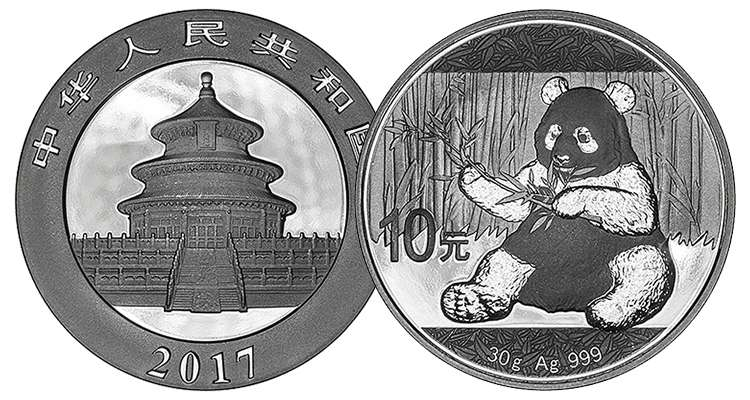 2017 Chinese Panda 30g Silver Uncirculated Coin