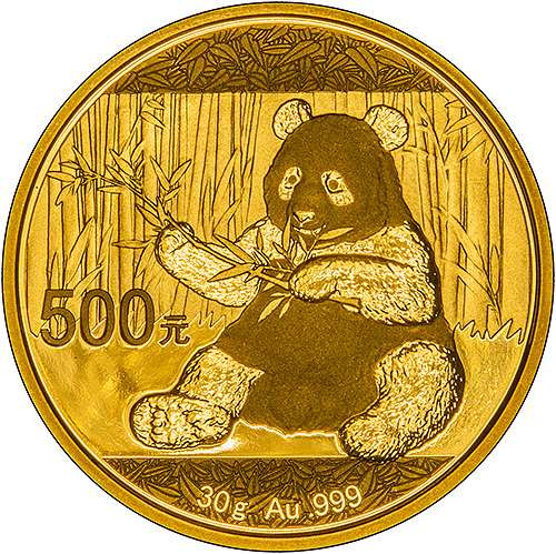 2017 Chinese Panda Gold 30g Uncirculated Bullion Coin