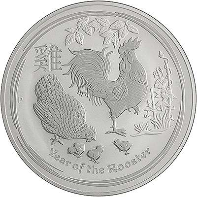 2017 Australian Year of the Rooster Silver Lunar Coins
