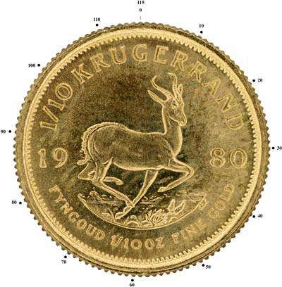 115 Serrations on Edge of Tenth Ounce Krugerrand