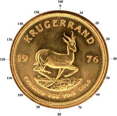 Krugerrand Reverse Showing 160 Serrations