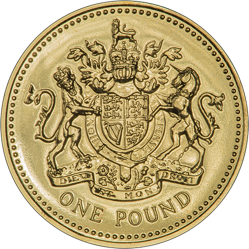 2008 One Pound Coin Reverse Design By Eric Sewell