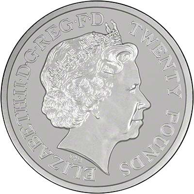 Obverse of £20 Coin