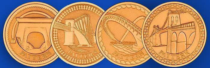 2003 Bridges Pattern One Pound Gold Proof Coin Set