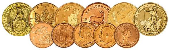 A Selection of Gold Bullion Coins