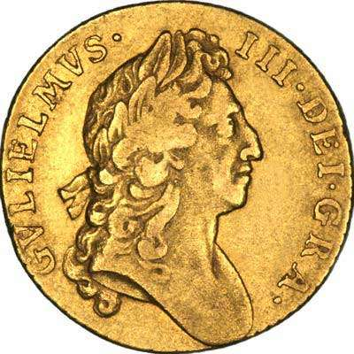 Obverse of 1695 William III Guinea