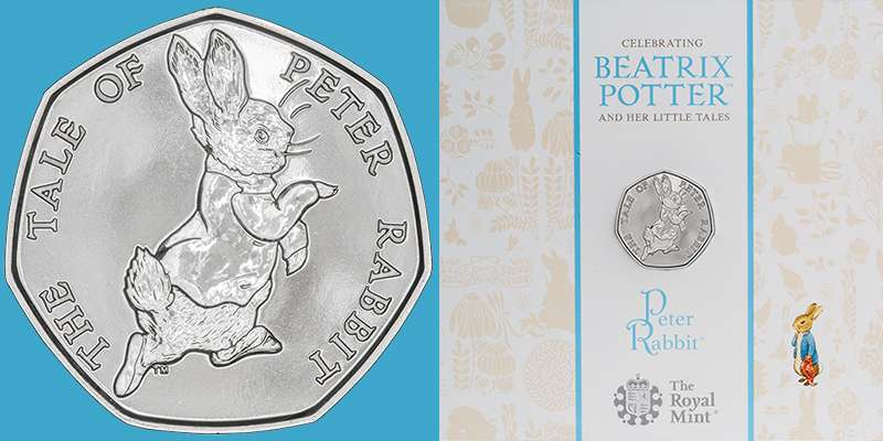 2017 The Tale of Peter Rabbit Fifty Pence BU in Presentation Folder