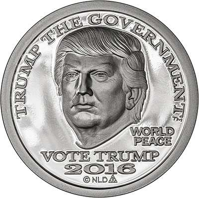 2016 Trump Silver Dollar Round - Prooflike finish