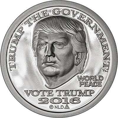 2016 Trump Silver Dollar Round - Prooflike finish