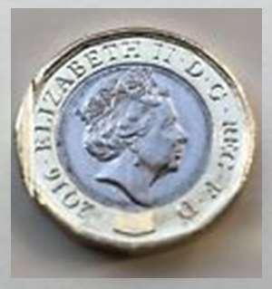 Error H - One Pound Damaged Coin