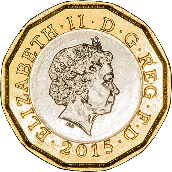2015 Trial Piece Coin for the 2017 12 Sided £1 Coin - Obverse