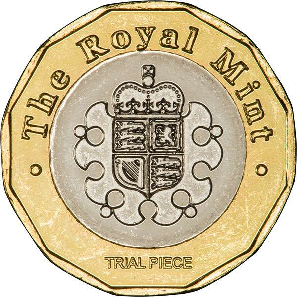 2015 Trial Piece Coin for the 2017 12 Sided £1 Coin - Reverse