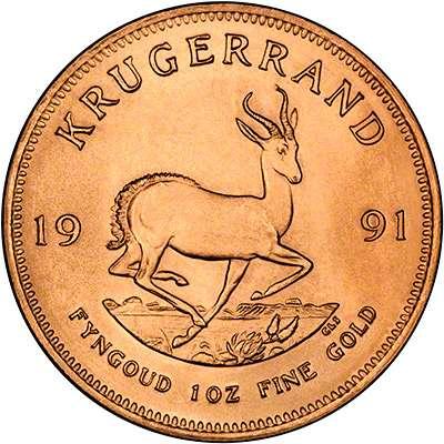 Krugerrand 22 carat gold coin