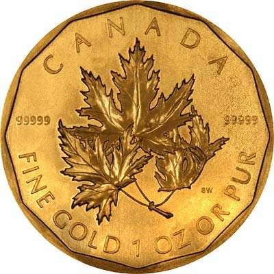 99999 Maple 24 carat gold coins