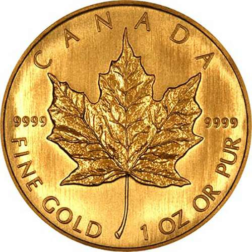 Maple 24 carat gold coins