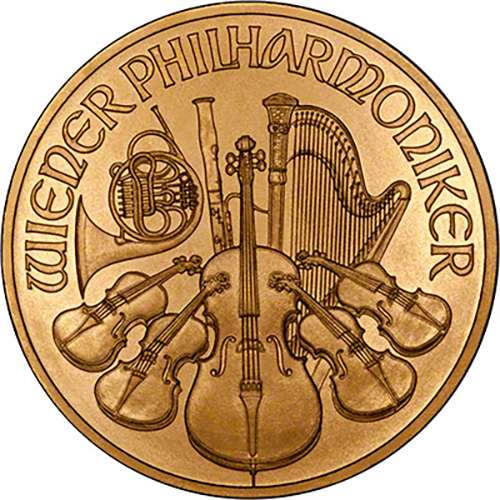 Philharmonic 24 carat gold coin