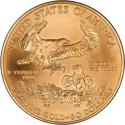 Modern American Eagle 22 carat gold coin