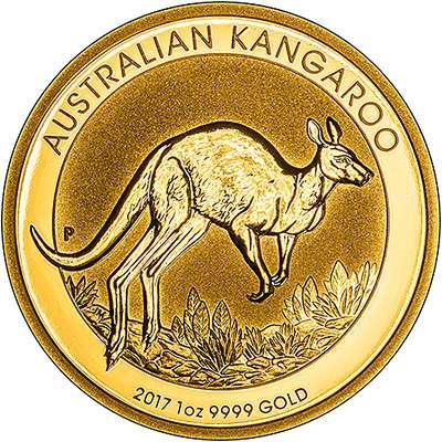 Australian Perth Mint Kangaroo Nugget 24 carat gold coins