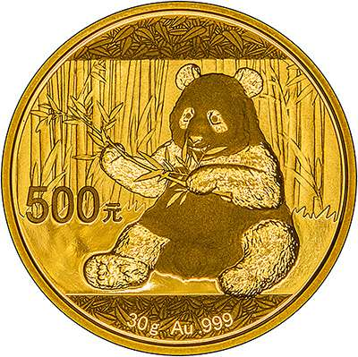 Panda 24 carat gold coins