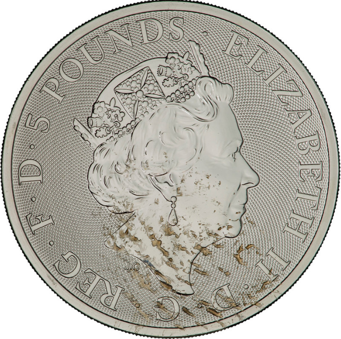 2021 Silver Greyhound of Richmond Queen's Beast Coin - Obverse