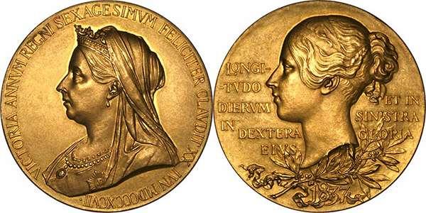 1897 Victoria Diamond Jubilee Gold Medallion
