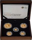 2012 Full Whole Coin Set Sovereign - 5 Coins Gold Proof Presentation Box