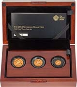 2014 Whole Coin Set Sovereign - 3 Coins Gold Proof Presentation Box