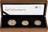 2008 Whole Coin Set Sovereign - 3 Coins Gold Proof Presentation Box