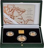 2000 Whole Coin Set Sovereign - 3 Coins Gold Proof Presentation Box